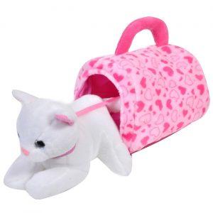 Plišana mačka sa kućicom - 21 cm